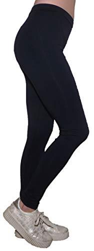 Pantalone Aderente Fusò Jeggings Palestra Ginnastica Danza Fitness Cotone Elasticizzato Ragazza Donna (XL 46 IT Donna, Blu)