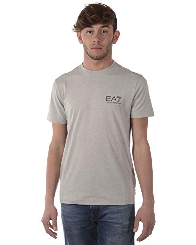 Emporio Armani EA7 Man Jersey T-Shirt 3ZPT51PJ30Z-3904 Herren T-Shirt (XL, Light Mel.Grey)