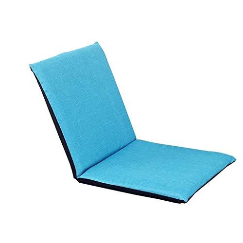 NXYJD Perezoso Creativo del sofá, Cama Tatami Grueso del Respaldo del sofá Individual Dormitorio Sofá Silla, Lino (Color : Blue)