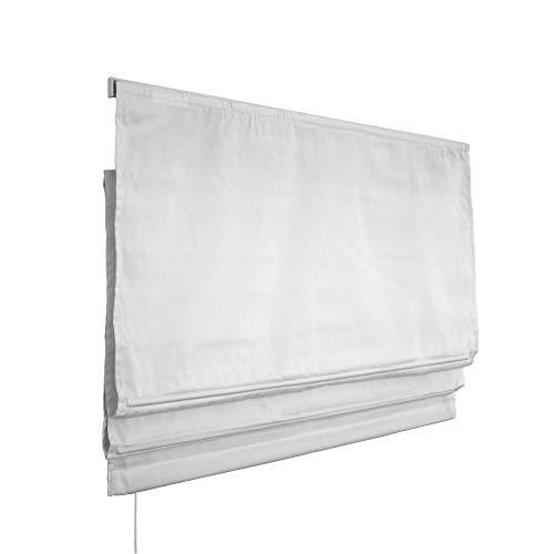 Victoria M. Estor Plegable, Cortina Plegable paqueto - Klemmfix (fijación sin taladrar) 80 x 175cm, Blanco