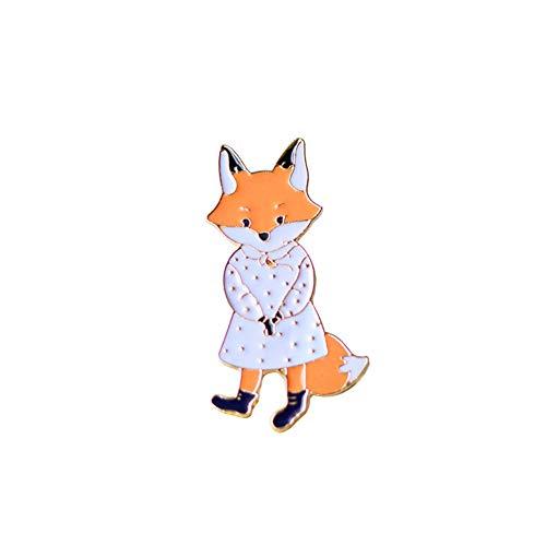 Hacoly Hemd Strass Brosche Pin Kostüm Brosche Karikatur Weiblicher Fuchs Boutique Broschen Schmuck Anhänger Anstecknadel Dekoration für Damen Jacken Schals Kleidung Tasche Decor