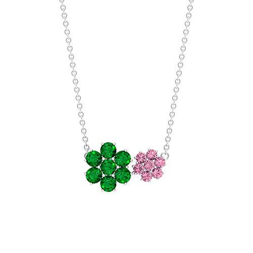 Rosec Jewels 92.5 plata de ley redonda Green Emerald