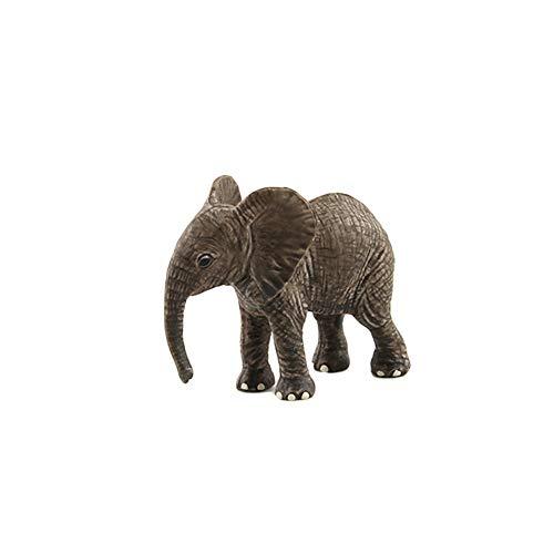 Mggsndi Fashion Modern Design Simulation Elephant Wild Animal Figurine Toy - Home Table Decor Ornament - Best Educational Birthday for Boys and Girls Adults Little Elephant