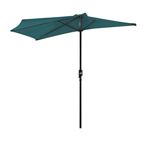 Outsunny Sombrilla 269x138x236 cm Parasol de Jardín con Man