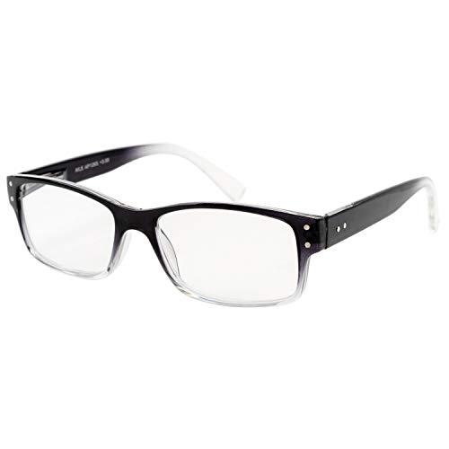 エール 老眼鏡 1.0 度数 メンズ プラスチックフレーム バネ蝶番 ブラック ホワイト AP125S