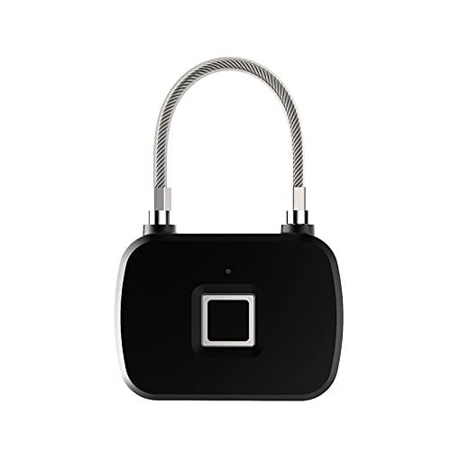 Tglabayun Candado de Huellas Dactilares Cerradura Biométrica Candado de Puerta/Cerradura Cifrado/cerradura electronica para Puertas de Equipaje Gabinetes