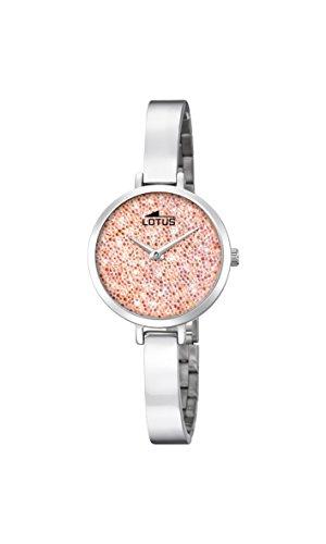 Lotus Watches Reloj Análogo clásico para Mujer de Cuarzo con Correa en Acero Inoxidable 18561/4