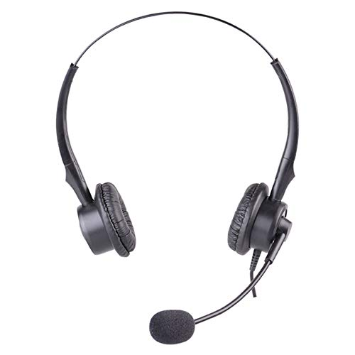 3,5 Mm Verstelbare Hoofdband Office Headset Multifunctionele 3,5 Mm Skype Headset, Telefoon Headset Voor Callcenter, Webinar, Online Conferentie, Voicechat, Muziek,Telephone connector