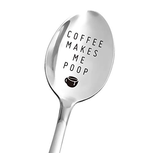 Funny Coffee Spoon Engraved Stainless Steel for Coffee Lover Women Men  Best for Girlfriend Wife Dad Husband Boyfriend Friends  Perfect for Birthday/Valentine/Anniversary/Christmas