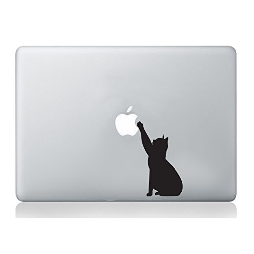 Cat MacBook Laptop Decal Vinyl Skin Sticker Silhouette Mural Art Graphics Pet