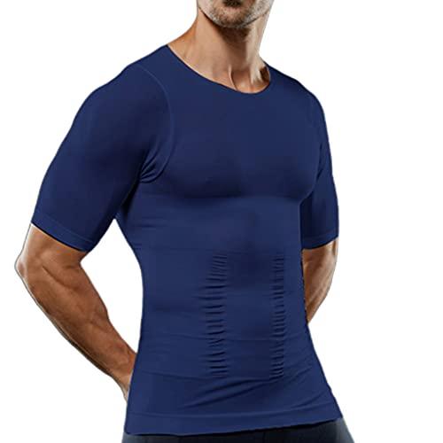 WOYA Camiseta de compresión para hombre, moldeadora de cuerpo, adelgazante, corsé de vientre