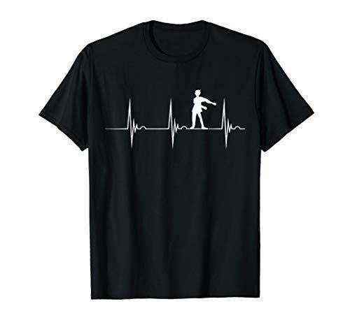 Floss Zahnseide Tanz Tänzer Herzschlag EKG Pulslinie T-Shirt