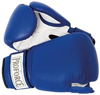 AWMA ProForce Leatherette Blue Boxing Gloves