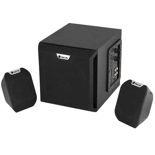 NGS COSMOS - Sistema de Altavoces Multimedia con Control de Volumen y Bajos, Sistema de Sonido 2.1 de 72W