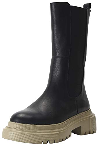 INUOVO Damen 800001 Halblange Stiefel, Black-Sand, 39 EU