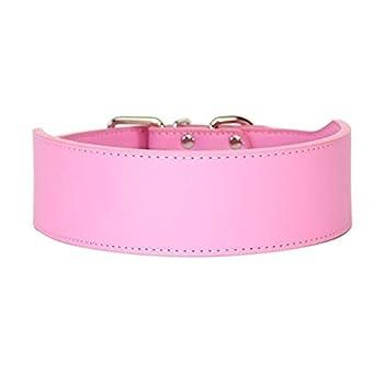 Pet Colliers for Chien en Cuir Microfibre Durable for Grandes Laisses for Chien Noir Rose Bleu Rouge Fournitures for Animaux De Compagnie Classic (Color : Pink, Size : XXL)