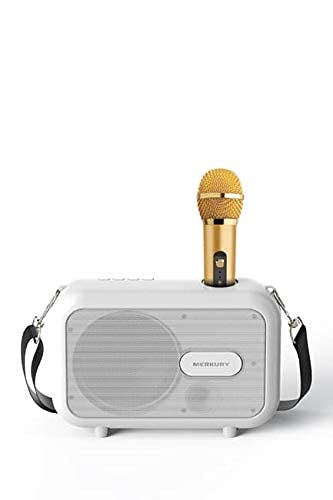 Karaoke Speaker + Wireless mic Works with Smartphones, Tablets and Computers Supports All Karaoke apps