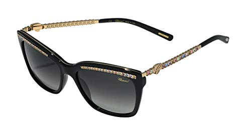 Chopard Damen SCH211S55700M Sonnenbrille, Shiny Black, 55/17/130