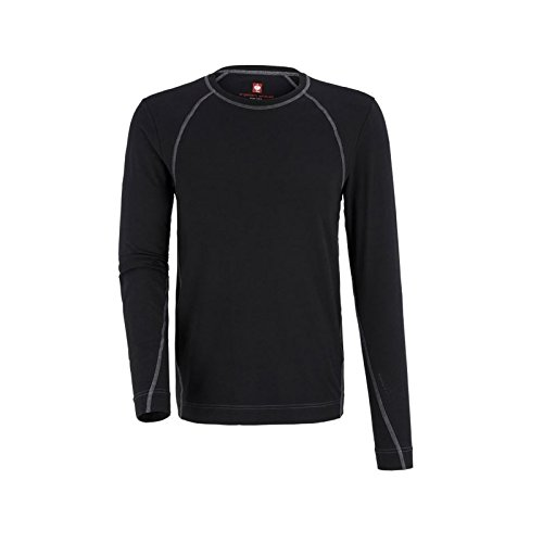 Thermo-ondergoed shirt e.s. Cotton Stretch Longsleeve Black Gr. XL.