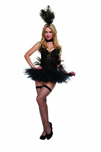 Starline Women's Exotic Peacock Costume (Large) Black