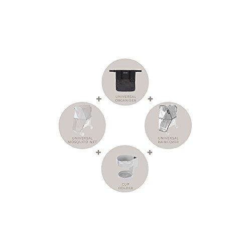 Kit universel Maclaren - Accessoires indispensables pour la poussette. L'organisateur, le revêtement de siège, le porte-gobelet et la moustiquaire s'adaptent à toutes les poussettes Maclaren
