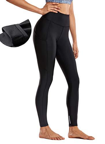CRZ YOGA Thermal Fleece Lined Leggings Women High Waisted Winter Yoga Pants