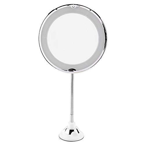 Huakii Miroir grossissant de Maquillage, vanité réglable de Maquillage en Verre de Voyage de LED(Grossissement 5X)