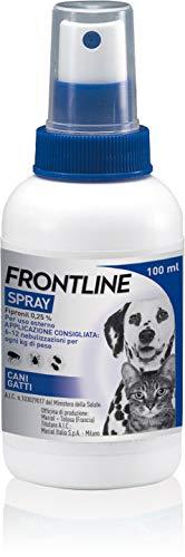 Frontline Spray Trattamento e prevenzione delle infestazioni da zecche, pulci e pidocchi, per Cani e Gatti a partire dai 2 giorni di vita, 100 ml