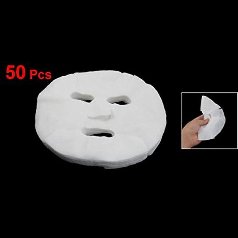 食事今後角度Xigeapg Xigeapg(R)50pcs女性の化粧品拡大コットンフェイシャルマスクシート