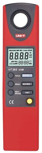 Uni-T 530134329 Luxómetro Digital con Cable Interfaz USB, UT382, Negro