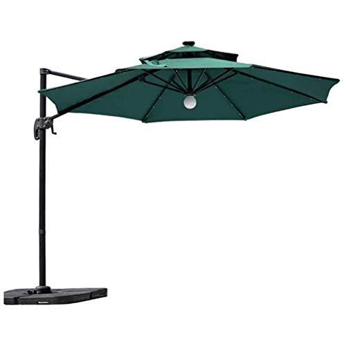 CHLDDHC Sombrilla de jardín para exteriores, sombrilla de jardín de 10 pies, paraguas grande voladizo, resistente al viento, paraguas resistente al viento, para jardín, terraza, piscina, patio