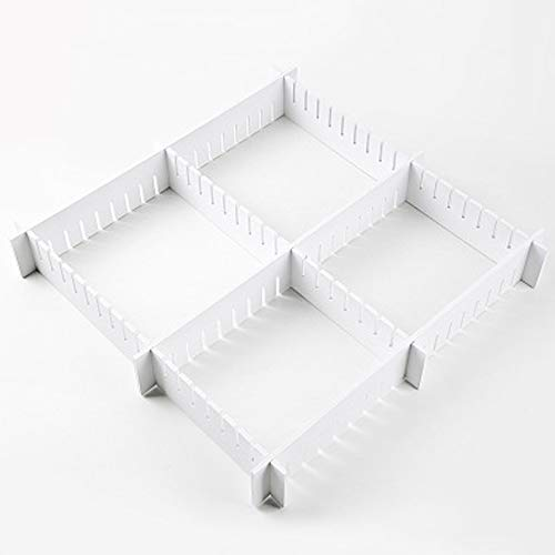 MYAMIA 7Pcs / Set Divisor De Cajones Escalable De Gran Tamaño Impermeable Divisor De Cestas De Almacenamiento Liso DIY