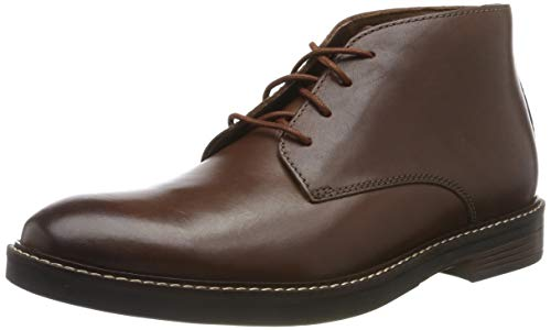Clarks Men's Paulson Mid Klassische Stiefel Kurzschaft Stiefel, Braun (Mahogany Leather), 44 EU