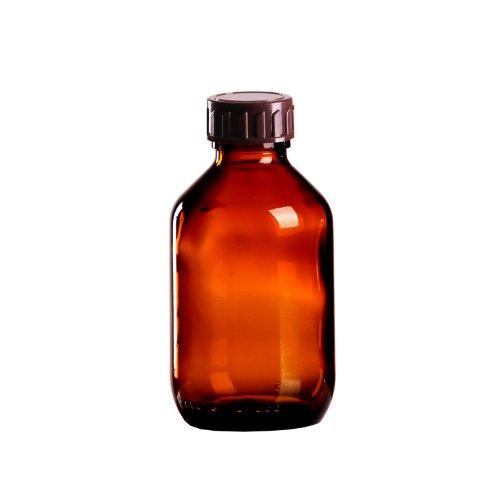 10 x Braunglasflasche 150ml / Medizinflasche inkl. Standard-Schraubverschluss braun DIN 28