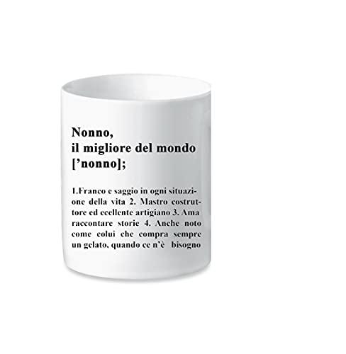 Taza de cerámica con el mejor abuelo, taza de té y café blanco como regalo para el abuelo, idea regalo para el día del padre