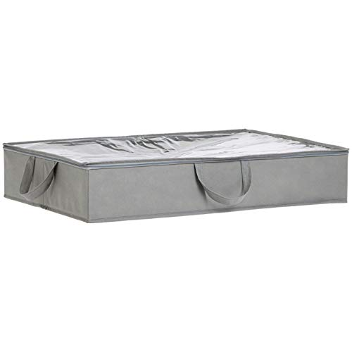 AmazonBasics - Unterbettkommode aus Stoff - 77 x 51 x 14,5 cm