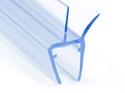 DQ-PP Duschdichtung 60cm | Dichtung für 3,5mm – 5mm Glastür Stärke | UK13 | Wasserablaufprofil Wasserabweisprofil | Duschkabinen Duschabdichtung Duschwand | Ersatzteile für Duschkabine | Transparent