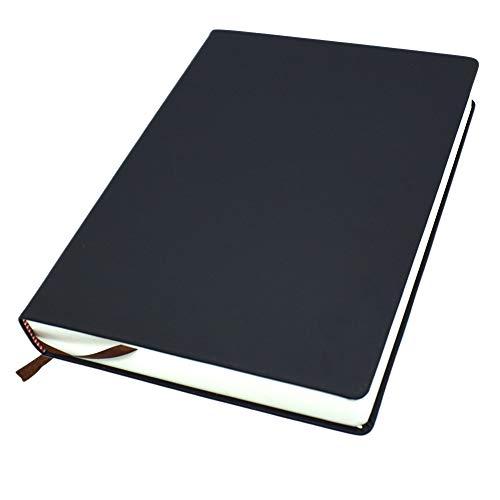Cuaderno, Piel Sintética Cuaderno, Cuaderno en Blanco Páginas, A4/A5/A6 en Blanco Página Diario Blanco Hoja Cubierta Suave Diario Libro de Bocetos, Cuadernos Planificador Perfecto para Viaje Escuela