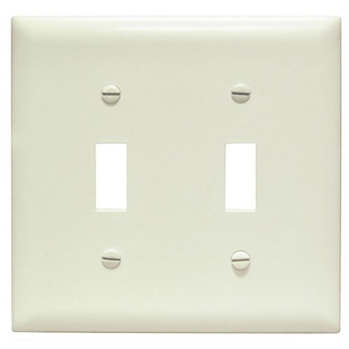 Legrand-Pass & Seymour TPJ2LACC10 Trade Master Jumbo Wall Plate with Two Toggle Switch Openings, Two Gang, Light Almond by Legrand-Pass & Seymour