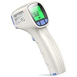 JUMPER Forehead Thermometer for All Ages, Non Contact Thermometer for Forehead and Object Surface Measurement with Instant Reading (Sky Blue)