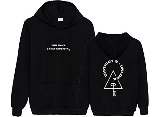 KPOP Stray Kids Kapuzenpullover Freizeit Langarm Hoodies Streetwear Sweater District 9: Unlock Drucken Tops Herbst Winter Bang Chan Changbin Hyunjin Felix Seungmin Jeongin Jisung
