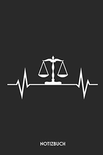 Notizbuch: Lustiges Notizbuch für Anwalt, Richter & Jurist | 120 gepunktete Seiten | ca. A5 Format | Dotted Notebook / Punkteraster | Individuelles Journal | Journaling Geschenk