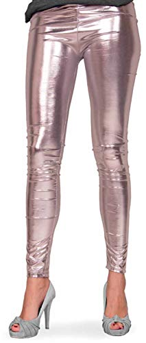 Folat 61719 Party Leggings Metallic L/XL zilver