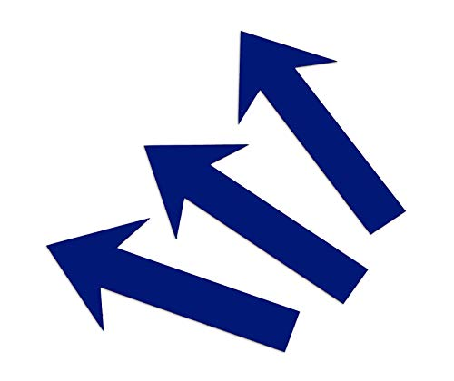 Magnetpfeile Blau 12 x 2 cm, beschreibbar, 3er- Pack Foto Magnetfolie Pfeile Memoboard magnetisch KFZ Gutachten Hinweispfeil