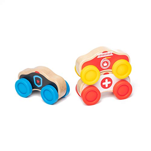 Wooden Baby Toys Stacking Cars for Toddlers 3PC Only $13.99