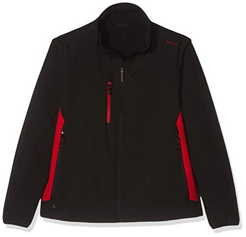 Delta Plus MYSE2NRXX Veste softshell 96% polyester, 4% élasthanne, manches amovibles, noir/rouge XXL
