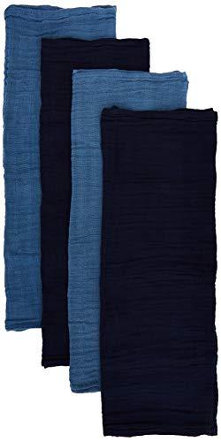 Pippi Unisex Baby 4er Pack Windeln für Spucktücher, Kuscheltücher oder Windeltücher geeignet Badebekleidungsset, Blau (Dunkel blau 772), (Herstellergröße:65x65)
