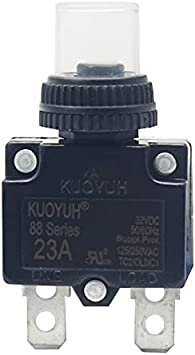 KUOYUH 88-15A 125//250VAC 32VDC 50//60Hz Thermal Overload Circuit Breaker with Wat