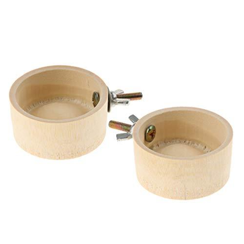 2 Piezas Alimentador de Aves, Botellas de Agua Bebedero de Loros Bambú para Jaula