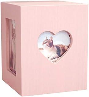 【Amazon商品】【ディアペット限定】国産 ペット仏壇 かわいい クリメイションボックス ハート 4寸骨壷まで (ピンク)